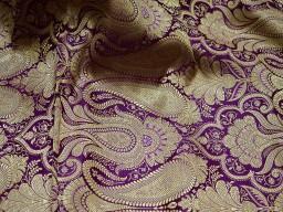Purple sewing crafting indian fabric banarasi brocade fabric by the yard wedding dress brocade fabric bridal dress material skirts cushions