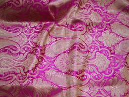 Magenta sewing crafting fabric banarasi brocade fabric by the yard wedding dress brocade fabric bridal dress material skirts cushions