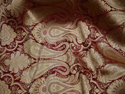 Maroon Sewing Crafting Indian Banarasi Brocade Fabric by the Yard Wedding Dress Brocade Fabric Bridal Dress Material Skirts Cushions