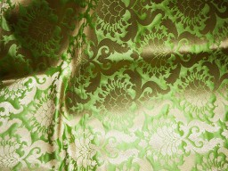 Apple green brocade fabric by the yard wedding dress indian banarasi brocade craft costume sewing 44 inch wide..