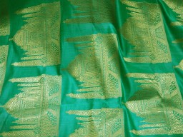 Sea green sewing crafting indian banarasi brocade fabric by the yard wedding dress brocade fabric bridal dress material skirts brocade fabric