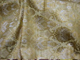 Crafting champagne brocade fabric by the yard jacket banarasi fabric indian blended silk dress material sewing cushion covers home décor