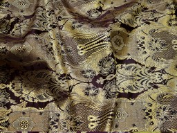 Crafting wine color brocade fabric by the yard jacket banarasi fabric indian blended silk dress material sewing cushion covers home décor