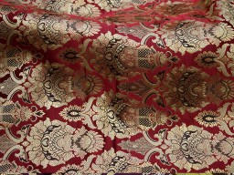 Crafting maroon brocade fabric by the yard jacket banarasi fabric indian blended silk dress material sewing cushion covers home décor