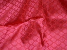 Coral red jacquard fabric brocade fabric by the yard for vest jacket silk fabric wedding dress bridesmaid dress sewing crafting costume