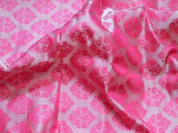 Indian pink wedding dress jacquard brocade fabric by the yard for vest jacket silk bridesmaid dress sewing crafting costume home furnishing cushion cover fabric