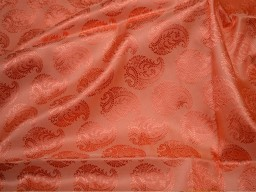 Peach crafting sewing wedding dress fabric silk jacquard fabric by the yard banarasi fabric banaras silk brocade fabric indian silk
