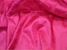 1.5 Meter pink jacquard fabric wedding dress brocade vest jacket silk bridesmaid sewing accessory crafting costume upholstery valance drapes fabric