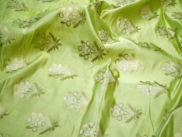 Apple green banarasi brocade fabric by the yard banaras brocade wedding dress fabric sewing crafting costumes bridesmaid skirt