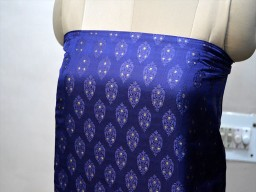 Blue crafting brocade fabric by the yard banaras brocade wedding dress fabric sewing costumes bridesmaid skirt