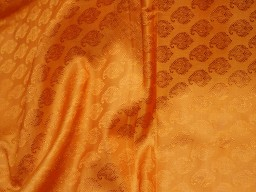 Burnt orange silk jacquard fabric by the yard banarasi fabric banaras silk brocade fabric indian silk wedding dress fabric crafting sewing