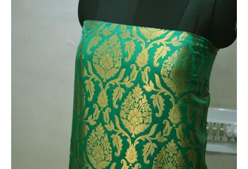 Benarse brocade fabric by the yard indian sea green wedding dress fabric banarasi brocade costume lehenga crafting dress material sewing