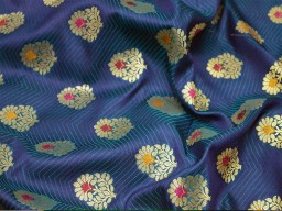 Peacock blue jacquard fabric indian benarse brocade fabric by the yard wedding dress skirts fabric bridesmaid costumes coat crafting sewing