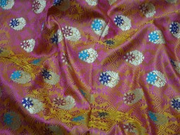 Yellow crafting sewing jacquard fabric skirts indian benarse brocade fabric by the yard wedding dress fabric bridesmaid costumes coat