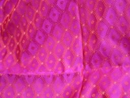 Magenta jacquard fabric for skirts indian brocade fabric by the yard banarasi wedding dress fabric bridesmaid costumes coat crafting sewing