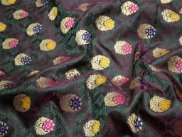 Burgundy crafting sewing jacquard fabric skirts indian benarse brocade fabric by the yard wedding dress fabric bridesmaid costumes coat