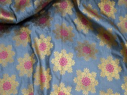 Benarse magenta grey crafting sewing jacquard fabric skirts indian brocade fabric by the yard wedding dress fabric bridesmaid costumes coat