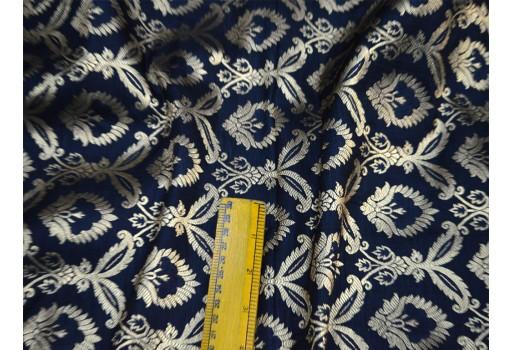 Black crafting fabric indian brocade fabric by the yard wedding dress banarasi brocade fabric bridal dress material sewing lengha fancy  dress clothing