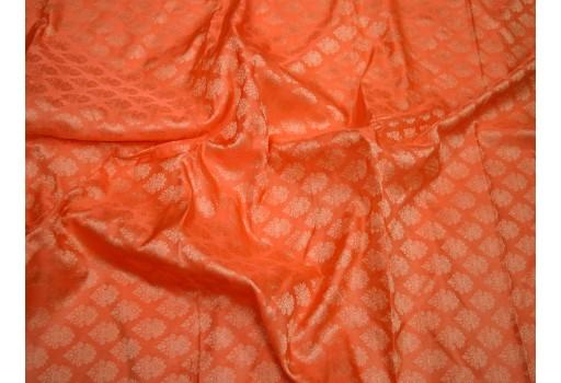 Orange jacquard fabric brocade fabric for vest jacket silk fabric wedding dress bridesmaid dress costume