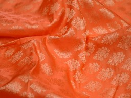 Orange jacquard fabric brocade fabric for vest jacket silk fabric wedding dress bridesmaid dress costume