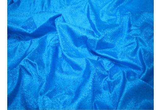 Wedding dress brocade fabric vest jacket turquoise blue jacquard fabric banarasi silk bridesmaid dress sewing crafting costume