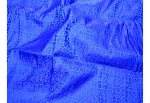 Royal blue banarasi jacquard brocade by the yard vest jacket coats jacquard silk wedding dress bridesmaid dress crafting costume sewing accessory fabric