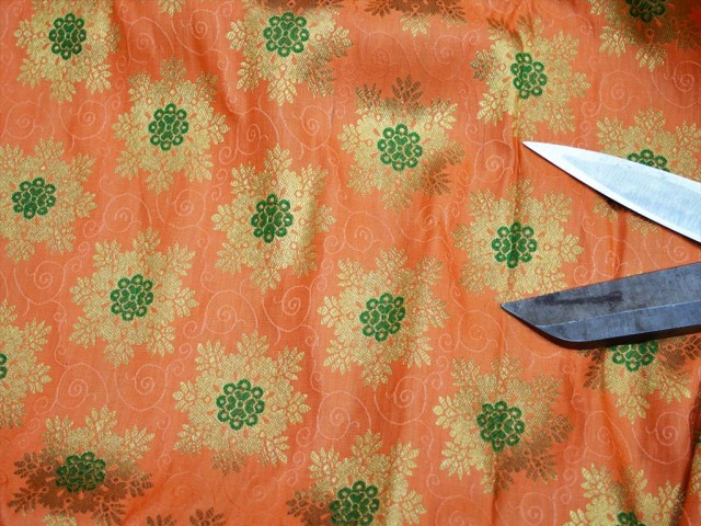 Banarasi Blended Silk Peach Brocade by the yard Crafting Sewing Boutique Material Skirt Home furnishing Wedding Dress Bridesmaid Costumes Coat Dolls Dresses Table Runner Fabric