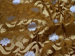 Brown jacquard fabric by the yard wedding lehenga dresses skirt indian brocade bridesmaid banaras silk sewing crafting jackets costume home décor beautiful floral design fabric home décor vest coat brocade