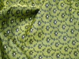Fabric by the yard dresses home décor vest coat brocade wedding lehenga fabric indian brocade bridesmaid sewing crafting jackets costume lime green jacquard fabric skirts table runner brocade blended silk