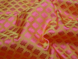 Fabric by the yard dresses home décor vest coat brocade wedding lehenga fabric indian brocade bridesmaid banaras sewing crafting jackets costume yellow indian jacquard fabric skirts table runner brocade blended silk