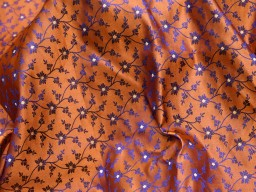 Indian jacquard orange brocade sold by the yard bridesmaid banarasi blended silk fabric for dresses home decor wedding lehenga indian brocade sewing crafting jackets costume skirts table runner fabric