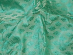 Bridesmaid dresses sold by the yard fabric home furnishing decor doll making indian brocade mint green jacquard fabric sewing crafting jackets skirts table runner blended silk fabric