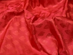 Sold by the yard fabric indian bridesmaid wholesale brocade wedding lehenga doll dresses making red sewing fabric blended banarasi silk crafting cushion covers sherwani vest coat brocade