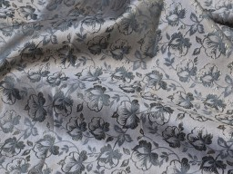 54'' indian grey brocade sold by the yard fabric boutique material craft supplies wedding lehenga blouses sherwani clothing accessories cushion covers fabric