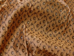 Brown indian brocade sold by the yard fabric boutique material craft supplies wedding lehenga blouses sherwani clothing accessories cushion covers fabric