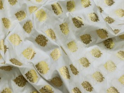 White dye able indian brocade sold by the yard fabric boutique material craft supplies wedding lehenga blouses sherwani clothing accessories cushion covers fabric
