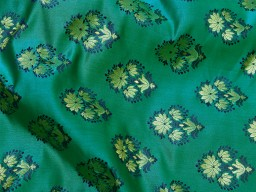 Peacock green indian brocade sold by the yard fabric boutique material craft supplies wedding lehenga blouses sherwani clothing accessories cushion covers fabric