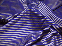 Indian Royal Blue Benarse Wedding Dress Brocade by the yard Diagonal Stripes Indian Banarasi Sewing Material Costume Crafting Drapery Cushion Cover