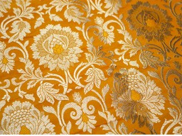 Banaras Brocade blended Silk Yellow and Gold