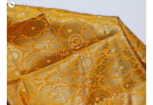Banaras Brocade blended Silk Yellow and Gold