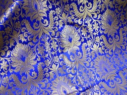 Silk Brocade Fabric Royal Gold Weaving Banaras Brocade Fabric Indian Silk Wedding Dress Fabric Banarasi Silk by the Yard