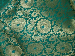 Brocade Fabric by the yard Wedding Dress Fabric Benarse