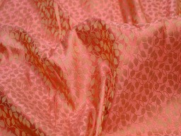 Jacquard fabric brocade fabric peach gold brocade art silk fabric indian banarsi brocade fabric indian silk fabric wedding fabric