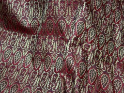 Brocade Fabric Maroon Gold brocade