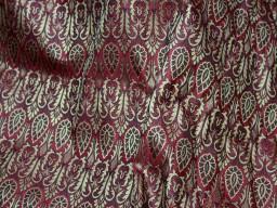 Brocade Fabric Maroon Gold brocade