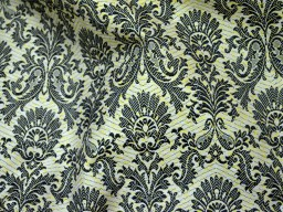 Online wholesale jacquard fabric by the yard beige yellow brocade cotton black  brocade fabric upholstery fabric banaras brocade fabric for pillows cover and traditional material indian brocade