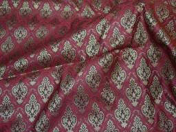 Maroon Brocade Fabric  Jacquard fabric  drapery fabric