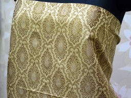 Beige Brocade Fabric  Indian Brocade