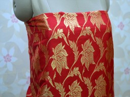 Red Brocade by the yard Home Furnishing