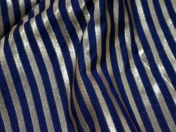 Costume fabric benarasi brocade by the yard blended silk fabric navy blue varanasi gold diagonal stripes design brocade indian fabric crafting brocade wholesale varanasi fabric trousers materials bowtie brocade bridal clutches cloth